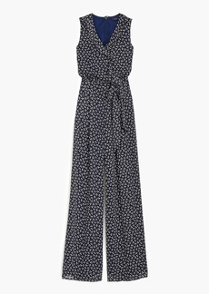 J.Crew Point Sur sparkle jumpsuit in indigo floral
