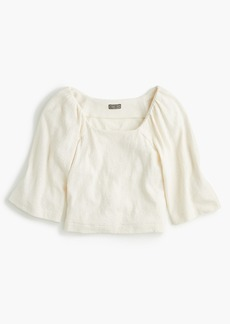 J.Crew Point Sur square-neck top in textured crepe
