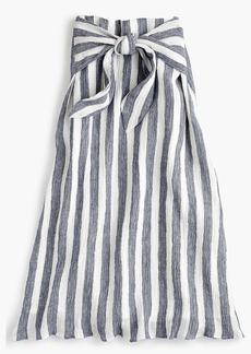 J.Crew Point Sur tie-waist skirt in nautical striped linen
