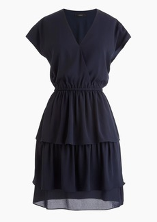 J.Crew Point Sur tiered ruffle mini dress