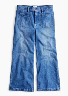 J.Crew Point Sur wide-leg crop jean in blue