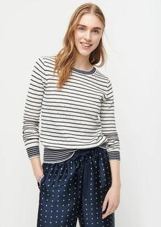 J.Crew Pointelle crewneck sweater in stripe