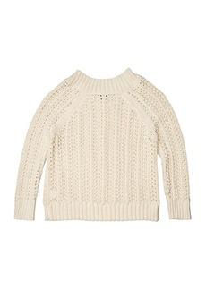 J.Crew Pointelle Wide Neck Beach Sweater