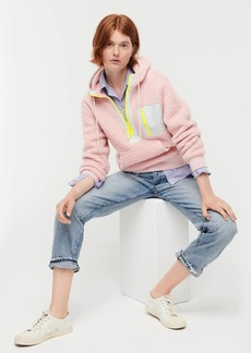 J.Crew Polartec® sherpa fleece half-zip hoodie