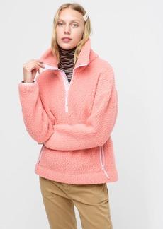 J.Crew Polartec® sherpa fleece half-zip pullover jacket
