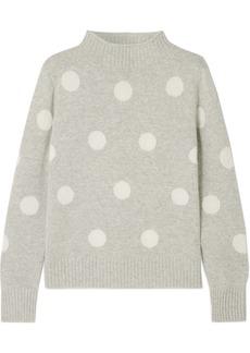 J.Crew Polka-dot Wool-blend Sweater