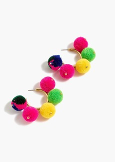 J.Crew Pom-pom hoop earrings