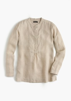 Popover shirt in Irish linen