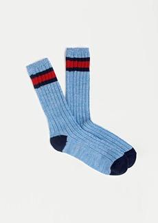 J.Crew Prep stripe camp socks