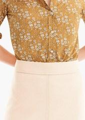 J.Crew Princess mini skirt in double-serge wool
