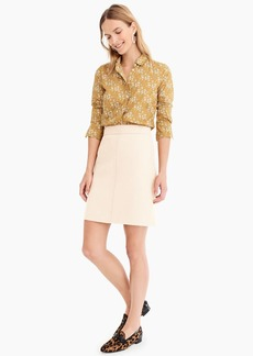 J.Crew Princess mini skirt in double-serge wool