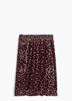 J.Crew Printed pull-on velvet skirt