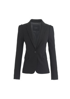 J.Crew Puff-sleeve blazer in stretchy cotton