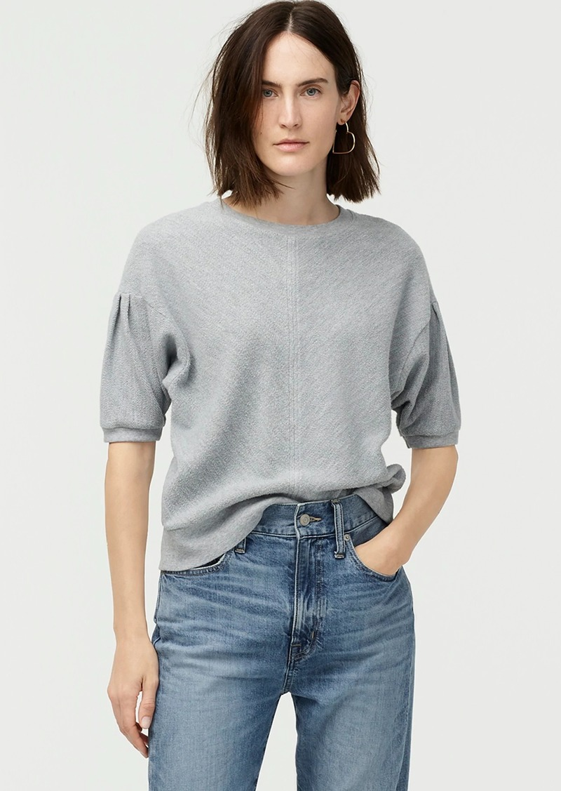 J.Crew Puff sleeve pullover T-shirt in terry cotton