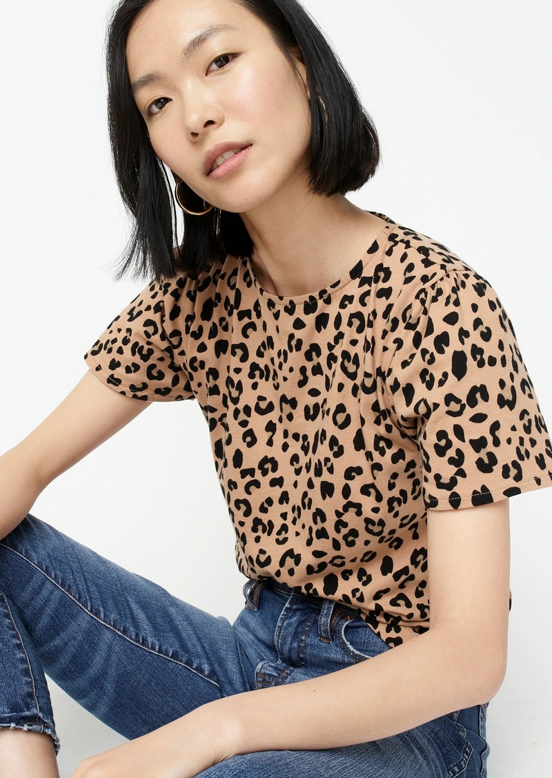 J.Crew Puff sleeve top in leopard
