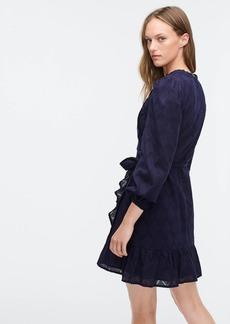 J.Crew Puff-sleeve wrap dress