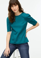 J.Crew Puff-sleeve ponte top