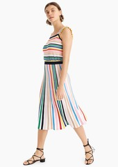 J.Crew Pull-on flare skirt in rainbow stripe