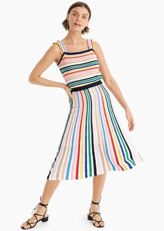 J.Crew Pull-on flare skirt in rainbow stripe