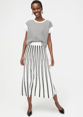 J.Crew Pull-on flare sweater skirt in textured stripe