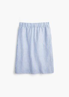 J.Crew Tall pull-on linen skirt in stripe