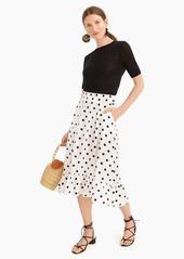 J.Crew Pull-on midi skirt in polka dot
