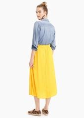 J.Crew Pull-on pleated midi skirt