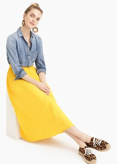 J.Crew Pull-on pleated midi skirt