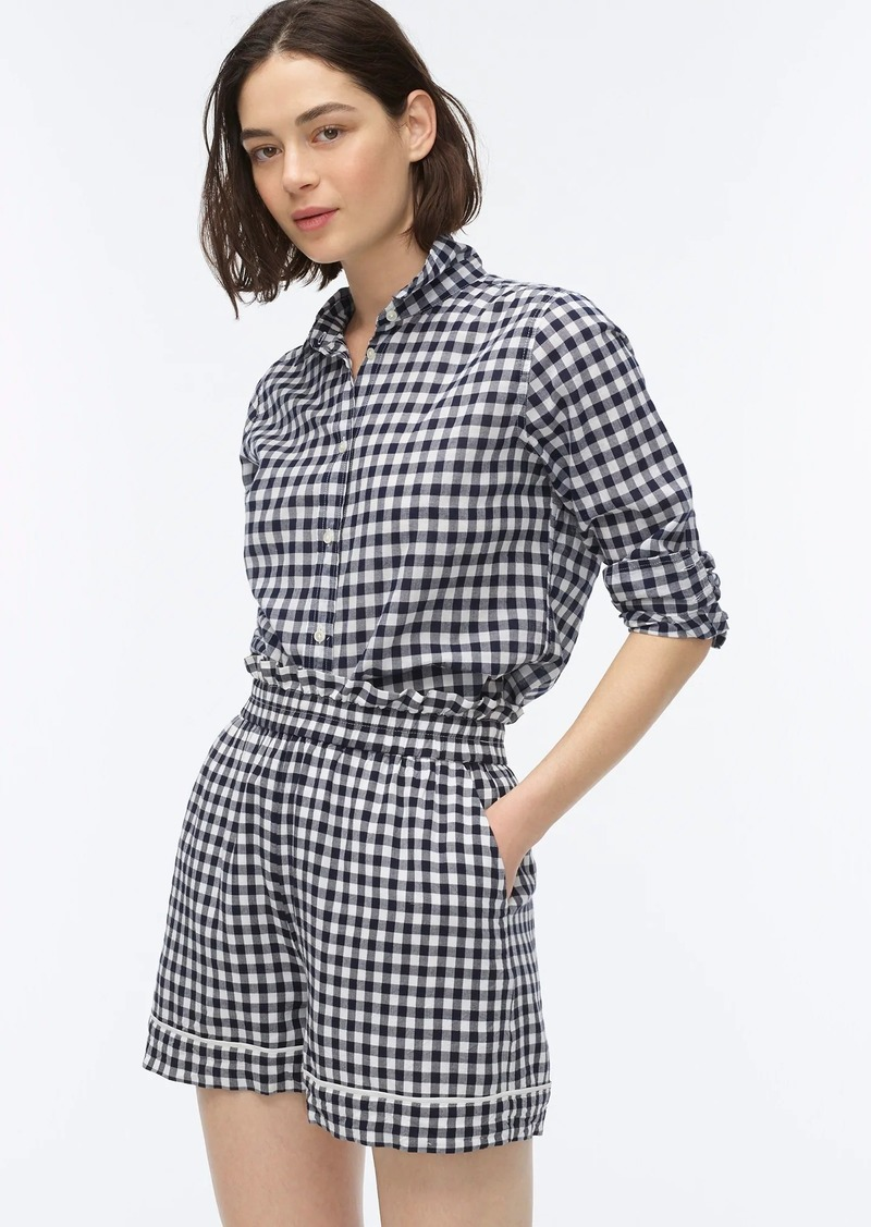 J.Crew Pull-on short in soft rayon gingham
