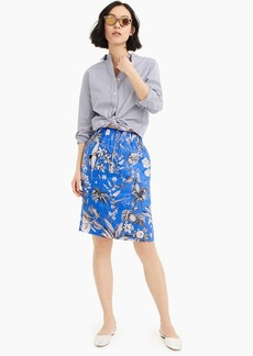 J.Crew Pull-on skirt in Ratti® tropical toile linen