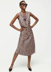 J.Crew Pull-on slip skirt in leopard