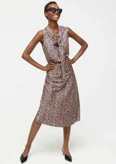 J.Crew Pull-on slip skirt in leopard