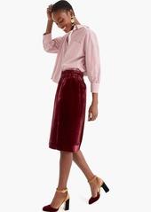 J.Crew Pull-on velvet skirt