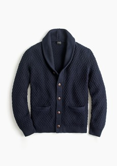J.Crew Quilted cotton cardigan sweater