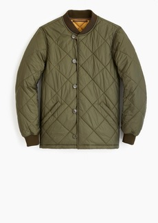 J.Crew Quilted liner jacket with backpack straps