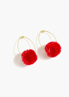 J.Crew Raffia pom-pom earrings