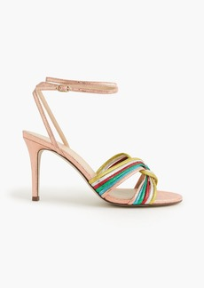 J.Crew Rainbow strappy heels (90mm)