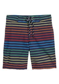 J.Crew Rainbow Stripe Board Shorts (Toddler Boys, Little Boys & Big Boys)