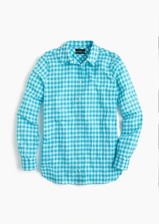 J.Crew Petite classic-fit boy shirt in crinkle gingham