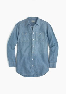 Relaxed chambray boy shirt