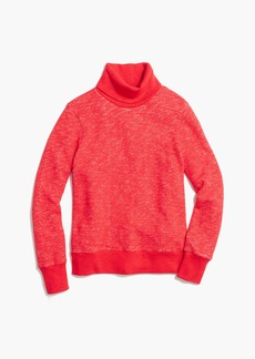 Relaxed heather turtleneck sweatshirt