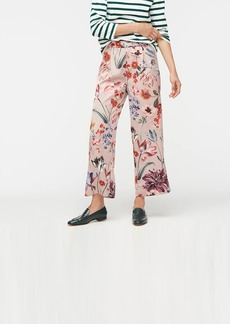 J.Crew Relaxed pull-on cropped pant in Dutch floral