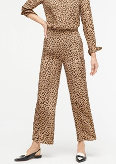 J.Crew Relaxed pull-on cropped pant in leopard print