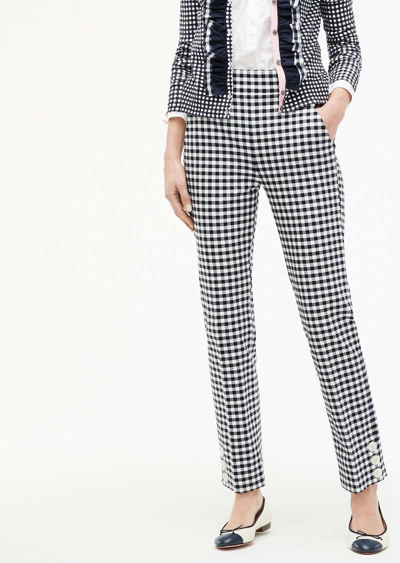 J.Crew Remi pant in gingham with buttons