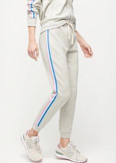 J.Crew Retro striped jogger pant in original cotton terry