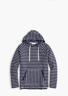 J.Crew Reverse french terry fleece hoodie in blue stripe