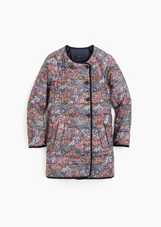 J.Crew Reversible puffer jacket in Liberty® floral with eco-friendly Primaloft®