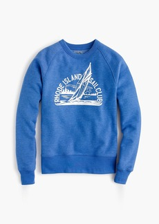 J.Crew Rhode Island Sail Club graphic crewneck sweatshirt