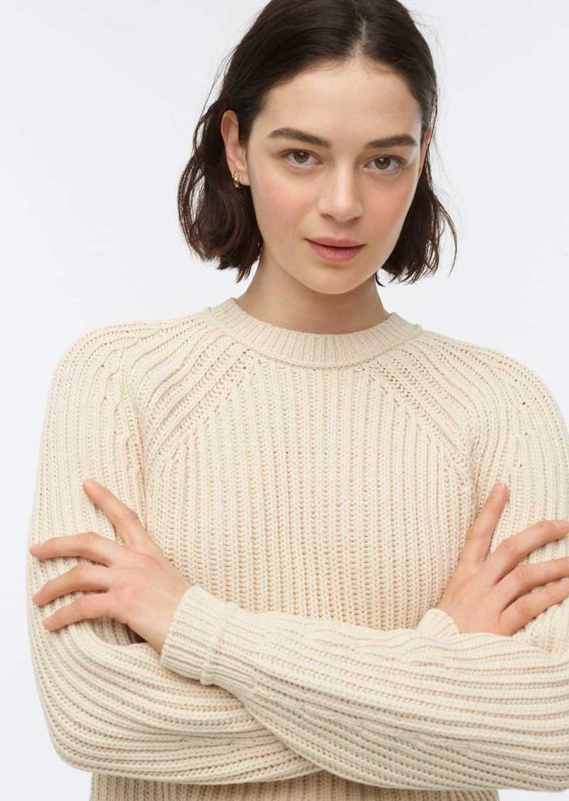 J.Crew Ribbed crewneck sweater