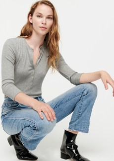 J.Crew Ribbed henley with three-quarter sleeves